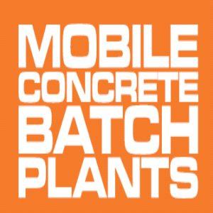 Mobile concrete batch plants